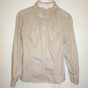 Beige cowgirl button up shirts